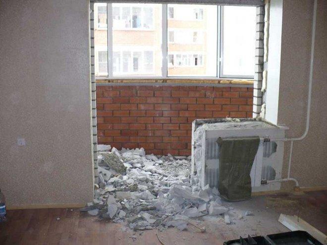 Демонтаж и дверного проема