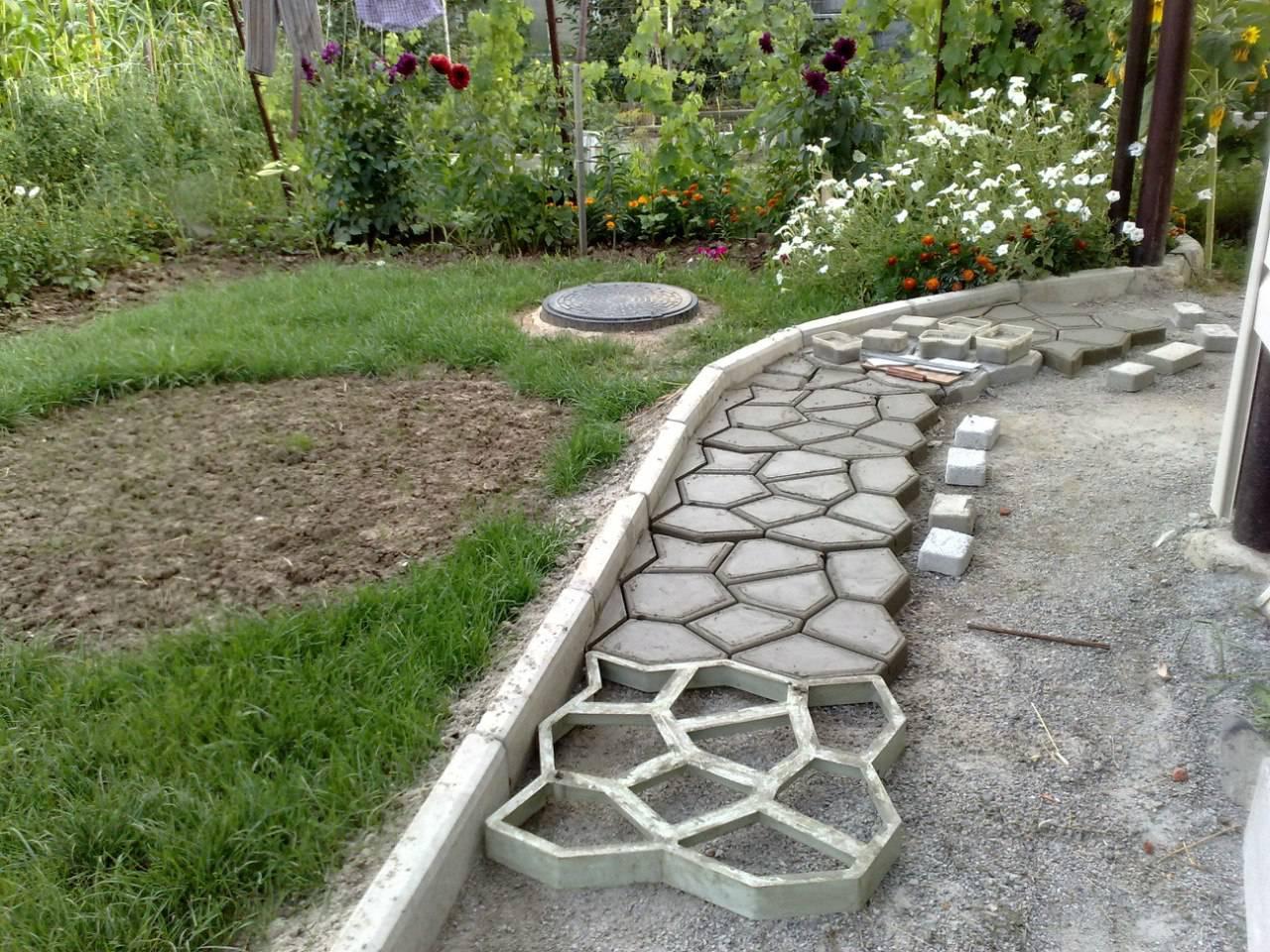 Создание бетонной дорожки