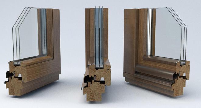 Деревянные окна могут быть стильными