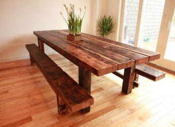 Как сделать стол из дерева своими руками