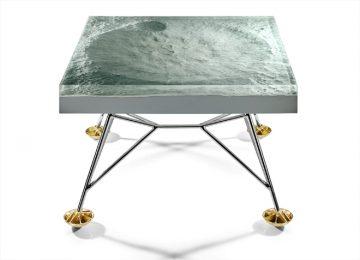 Стол с поверхностью луны