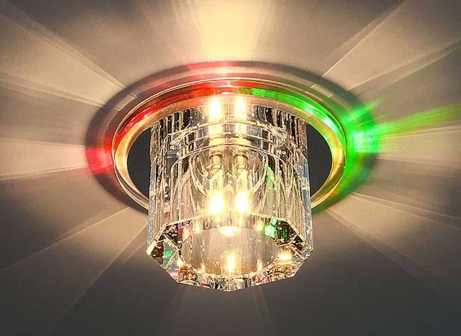 Точечные светильники для натяжных потолков
