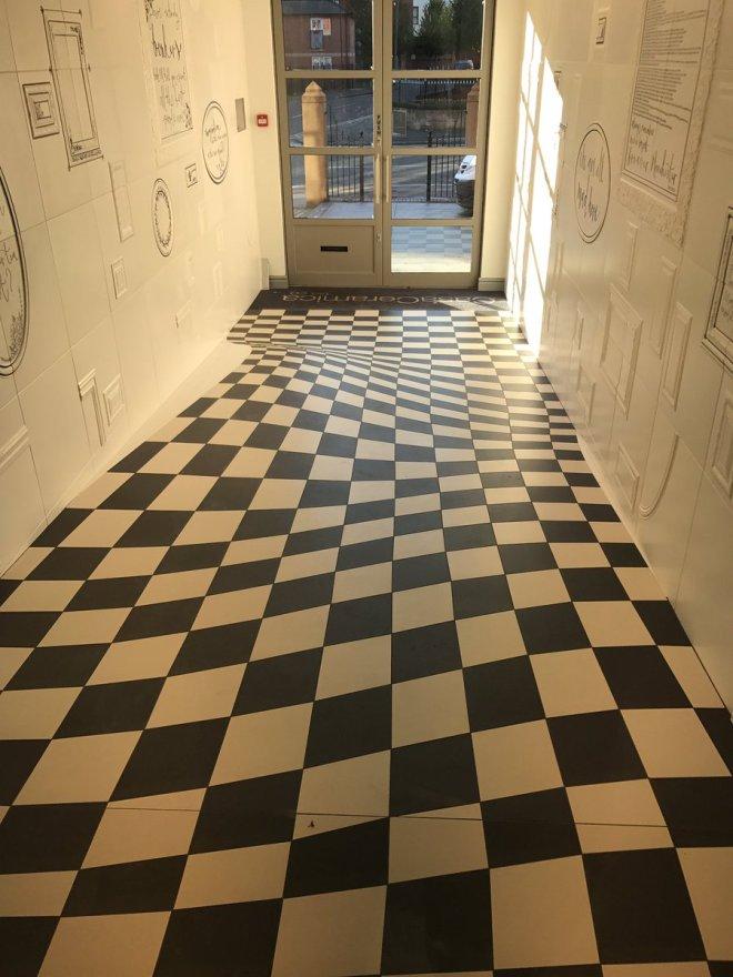 Удивительный пол с оптической иллюзией от Casa Ceramica