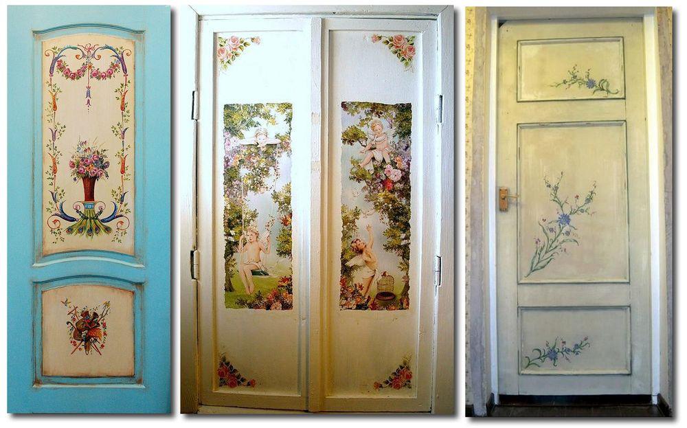 Двери с рисунками