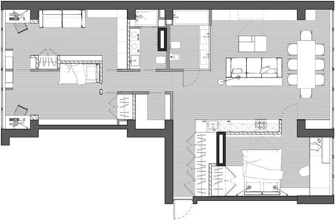 Перепланировка 3-х комнатной квартиры