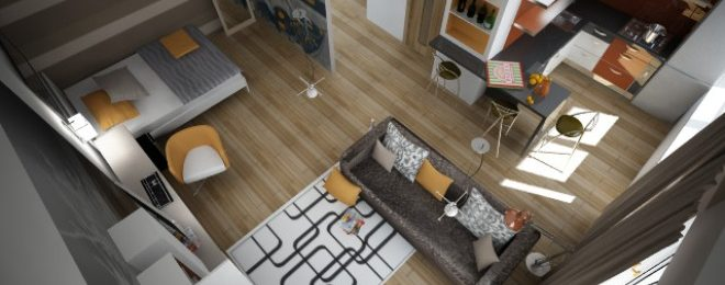 Планировка однокомнатной квартиры 30 кв. м.