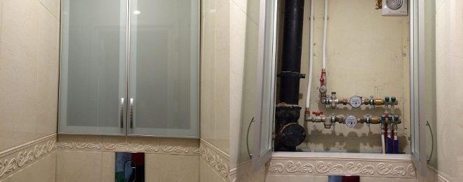 Сантехнический шкаф в туалет