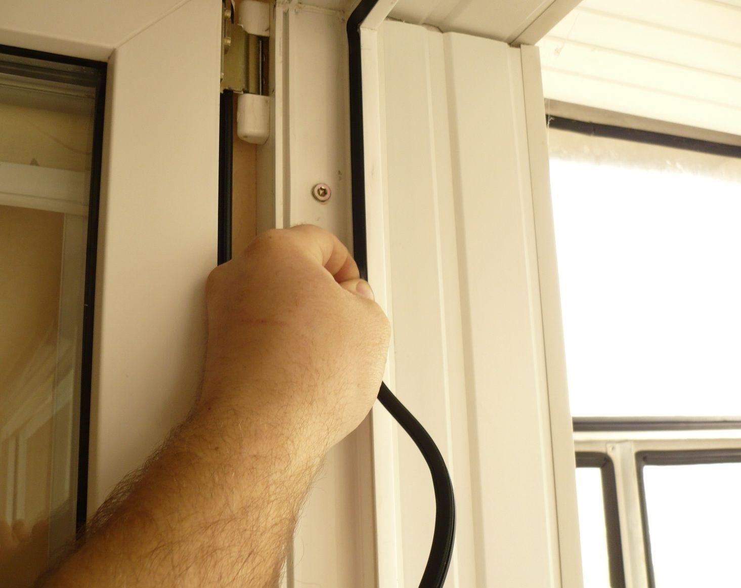 Утепление двери балкона