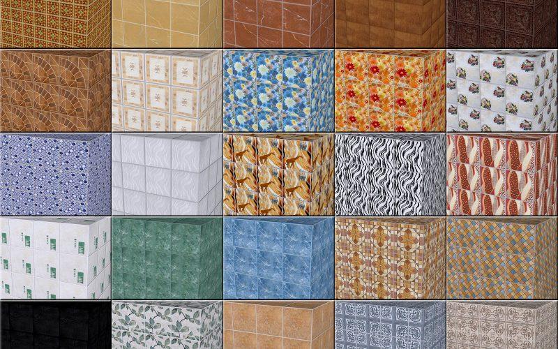 Узоры на керамической плитке