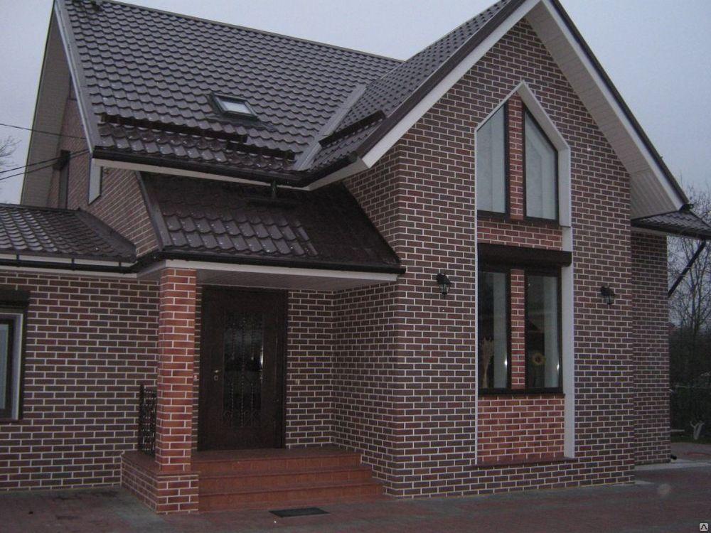 Дом с клинкерной плиткой