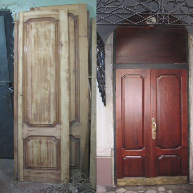 Как обновить старую дверь своими руками