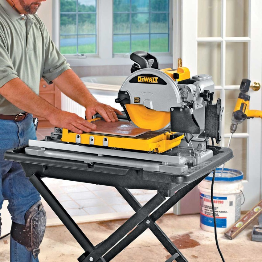 Как резать плитку электроплиткорезом