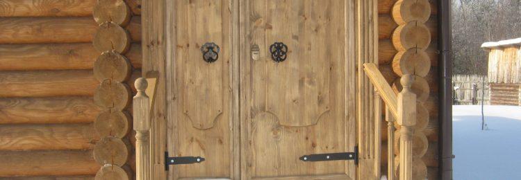 Утепленная дверь в баню