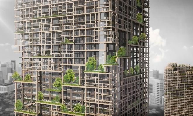 Самое высокое деревянное здание в мире