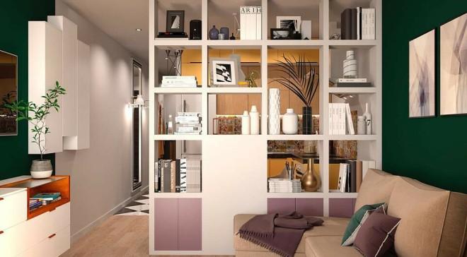 Шкаф перегородка для разделения комнаты