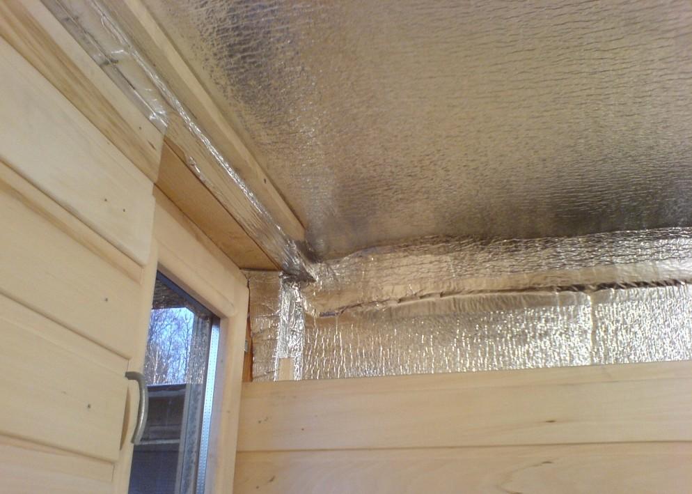 Утеплитель с фольгой для потолка бани