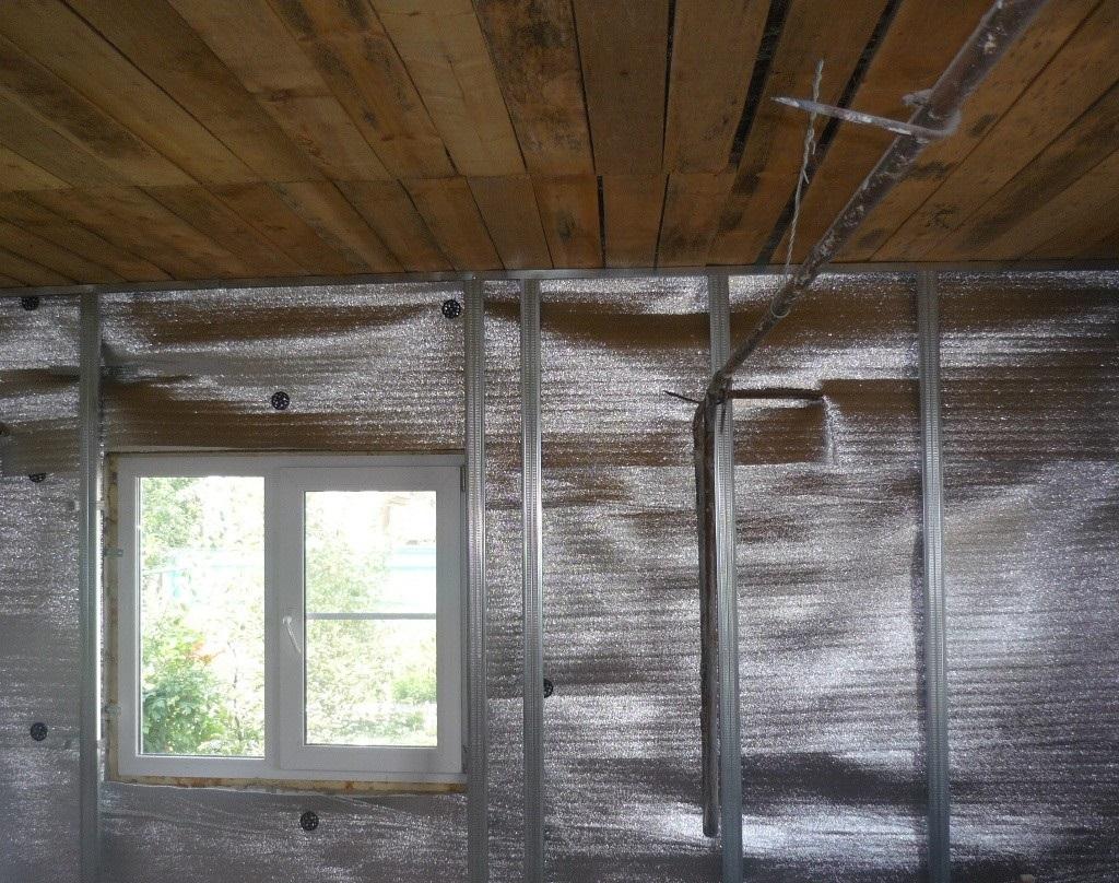 Утеплитель с фольгой для стен бани