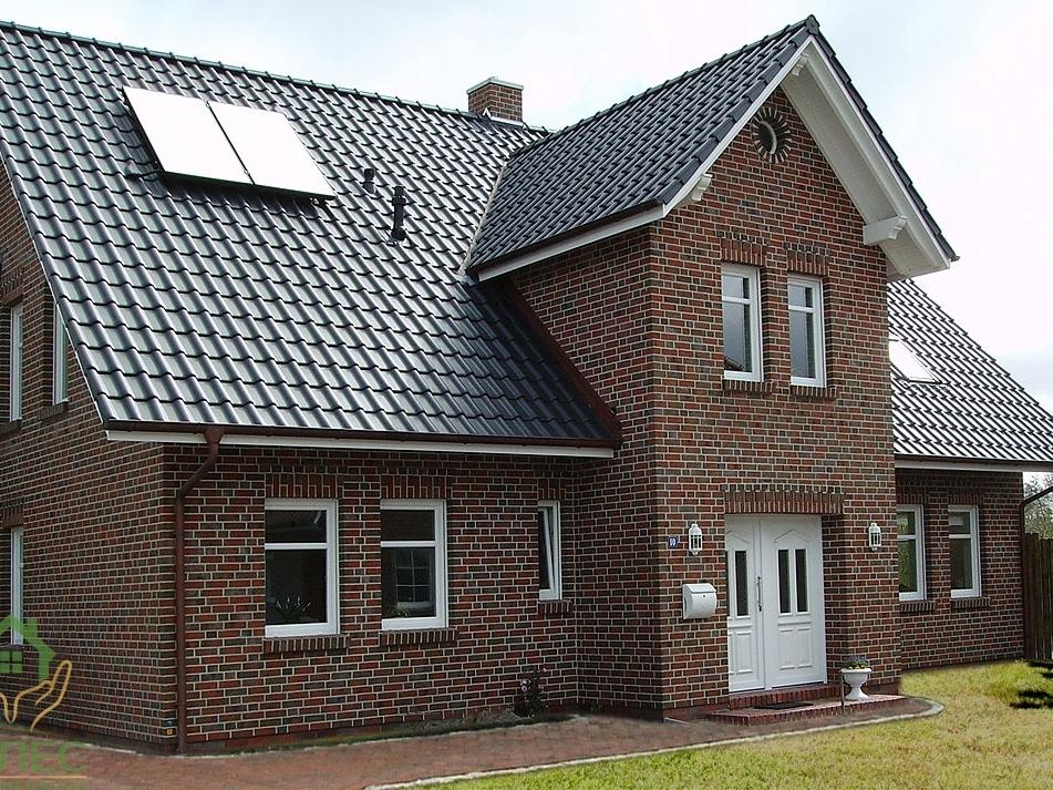 Дом, облицованный клинкером