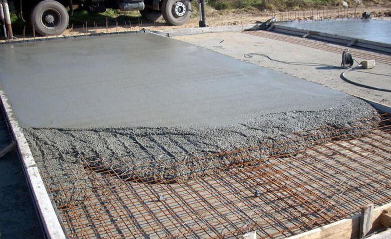 Фундамент, залитый бетоном