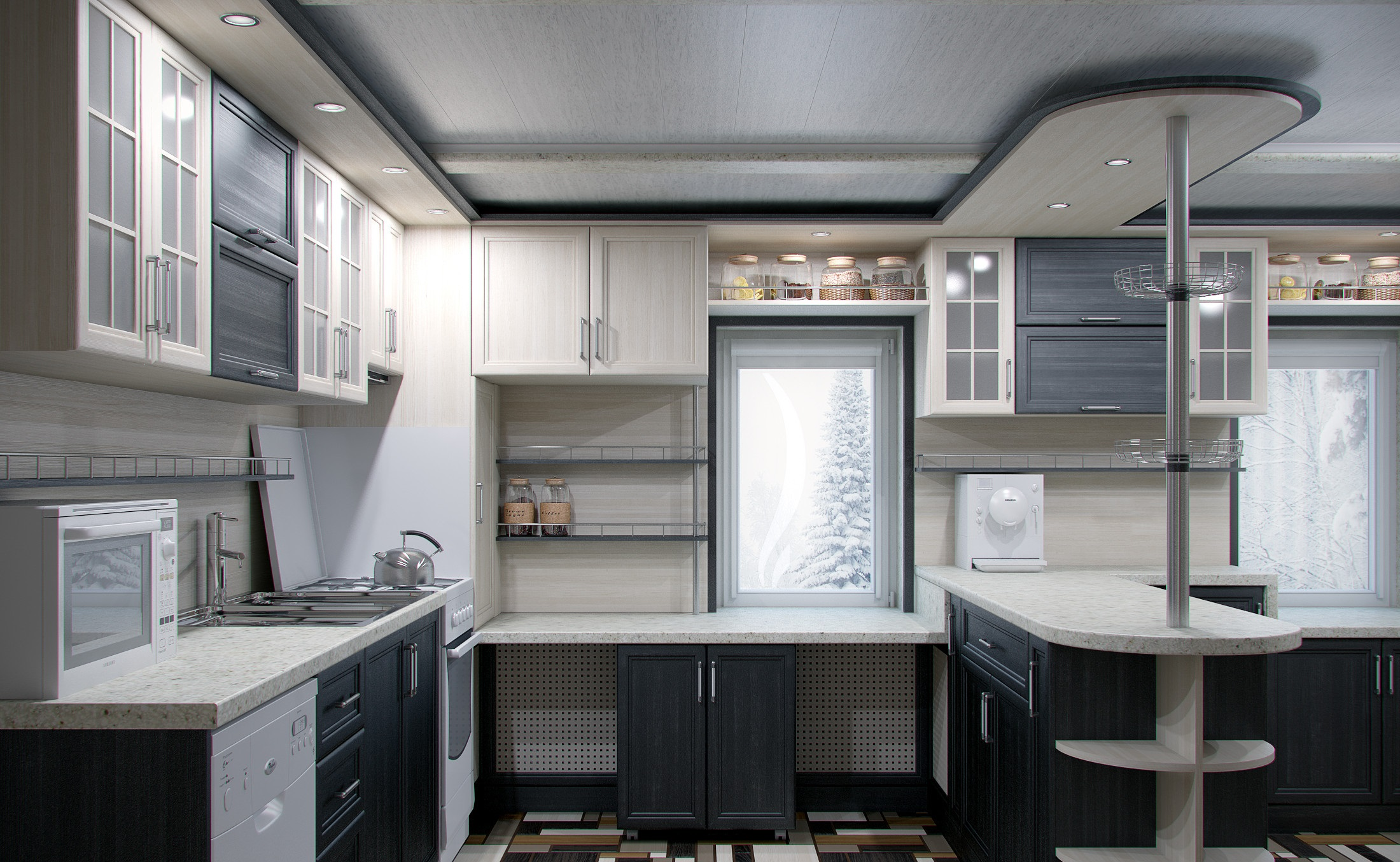 Кухня, сделанная по индивидуальному проекту
