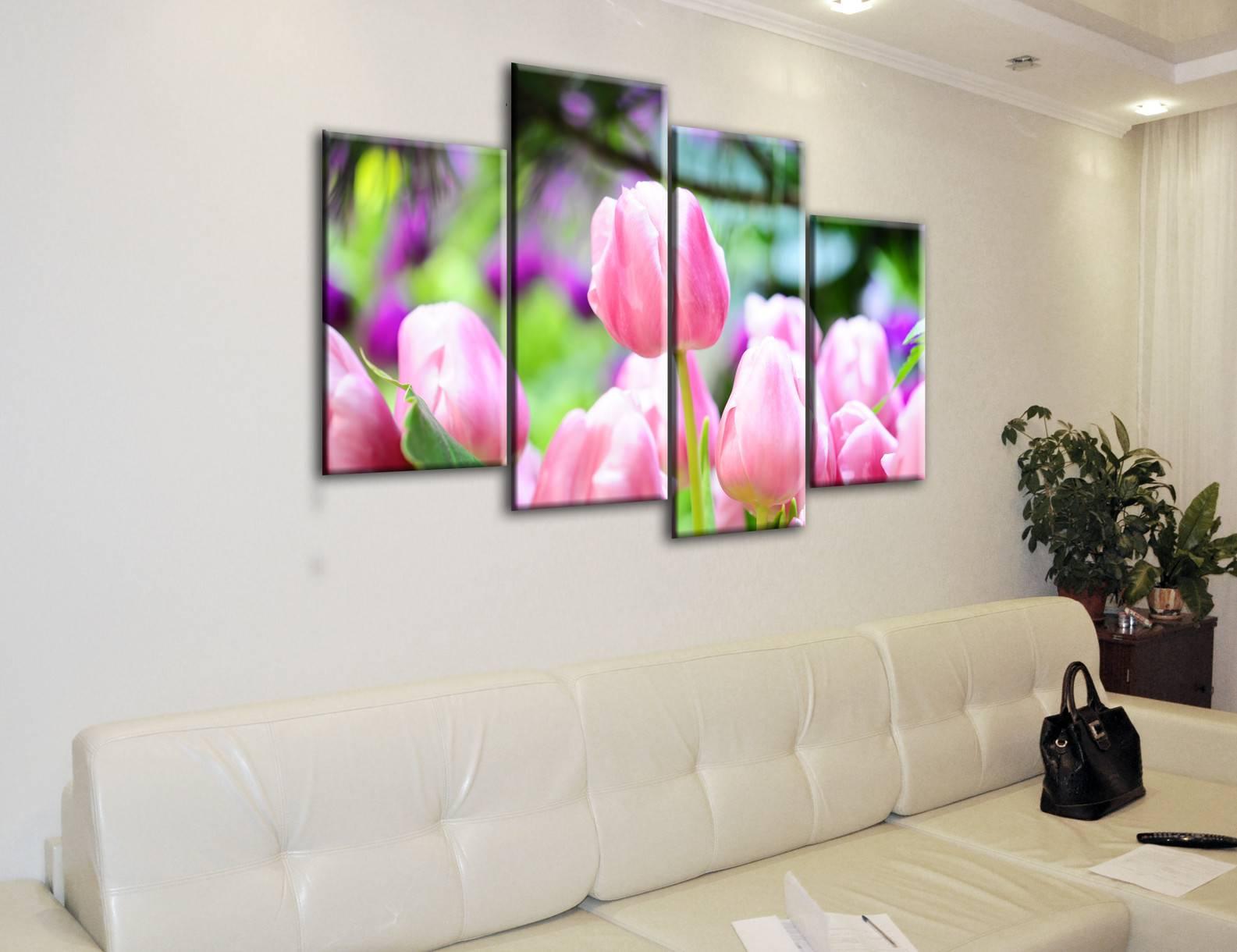Модульная картина с цветами