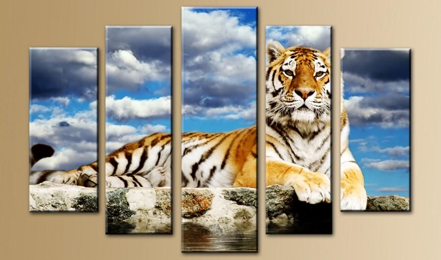 Модульная картина с тигром