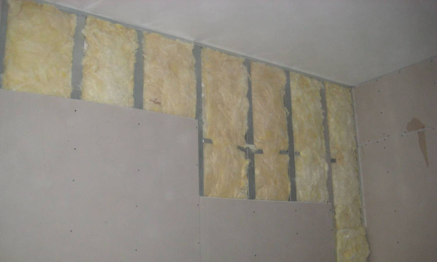 Обшивка стен гипсокартоном со звукоизоляцией