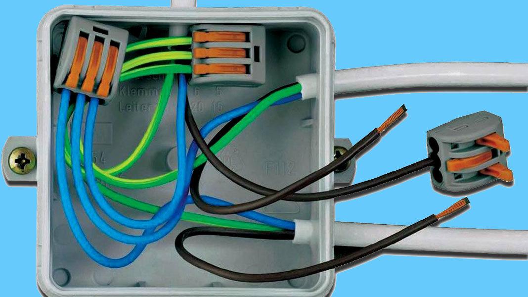 Разборное соединение кабелей проводки