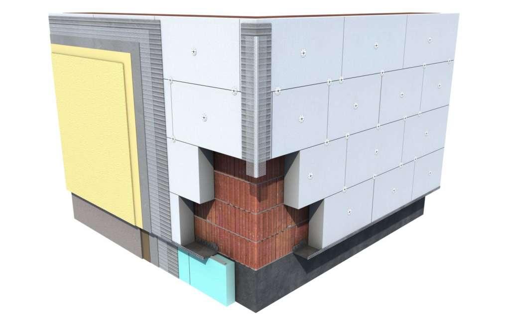 Схема утепления фасада пенопластом