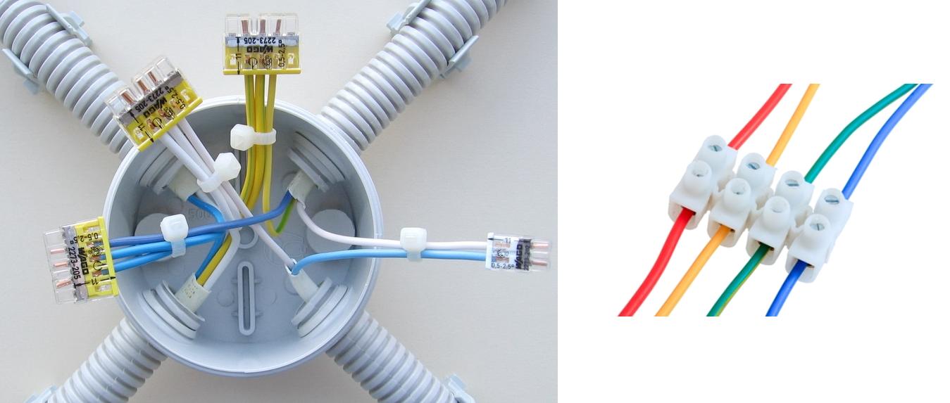 Соединения кабелей проводки