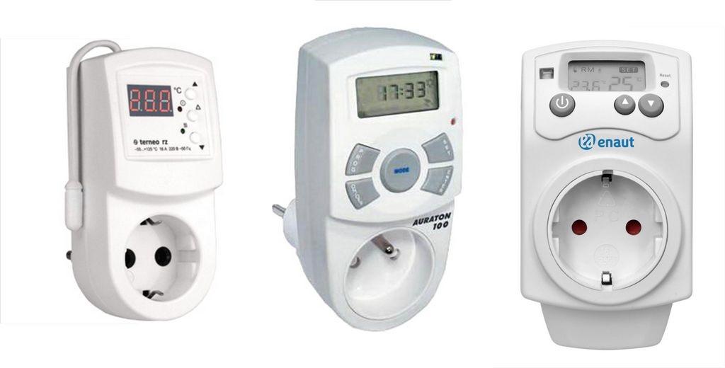 Терморегуляторыв розетку для бытовых обогревателей