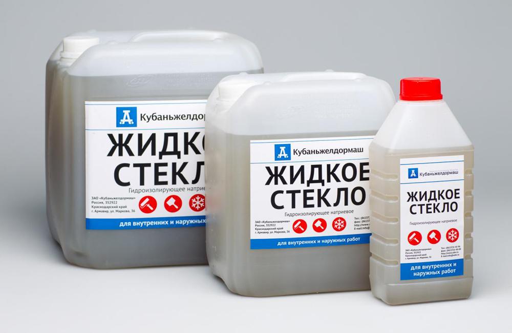 Упаковки жидкого стекла