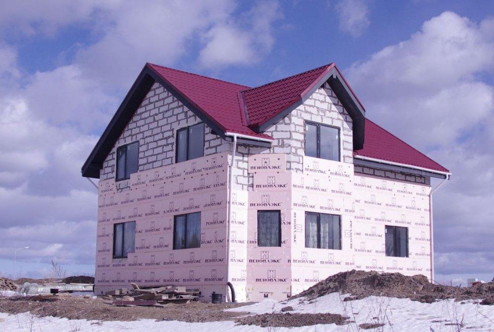 Утепление дома из газобетона пеноплэксом