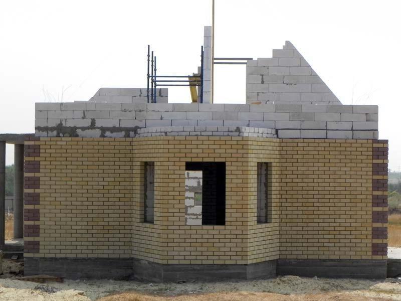 Утепление фасада дома из пеноблоков