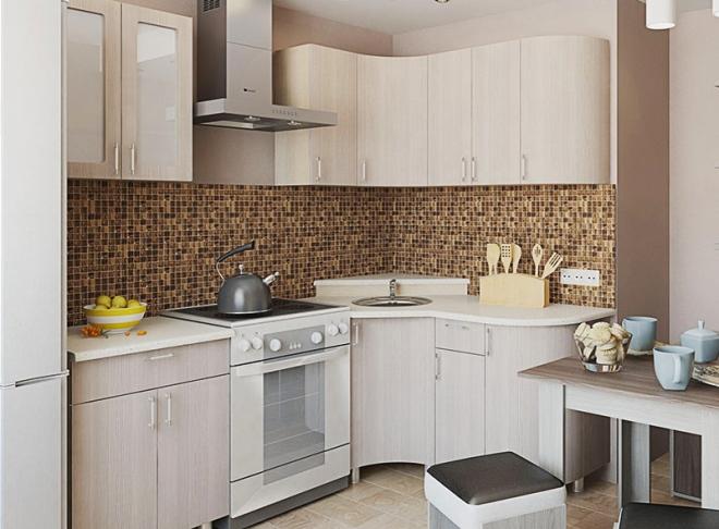 Как правильно расставить мебель на маленькой кухне и оставить жену довольной