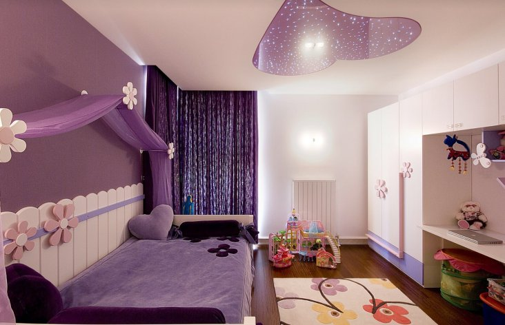Сиреневая гостиная +100 фото идей современного дизайна гостиной