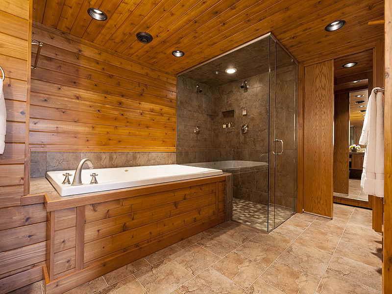 отделка ванной комнаты в каркасном доме