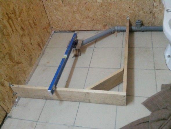Как сделать душевую кабину из плитки без поддона своими руками в квартире