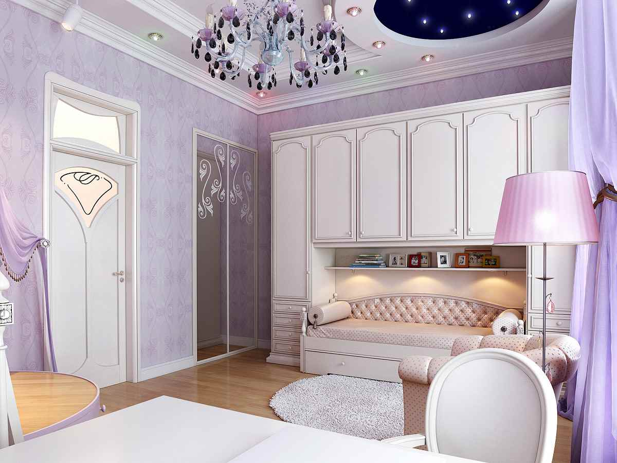 фиолетовые стены