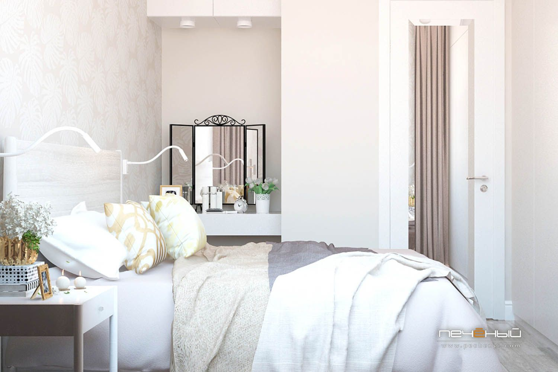 Идеи спальни со светлой мебелью
