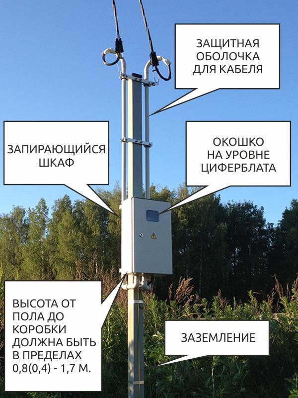 прибор учета электроэнергии на столбах