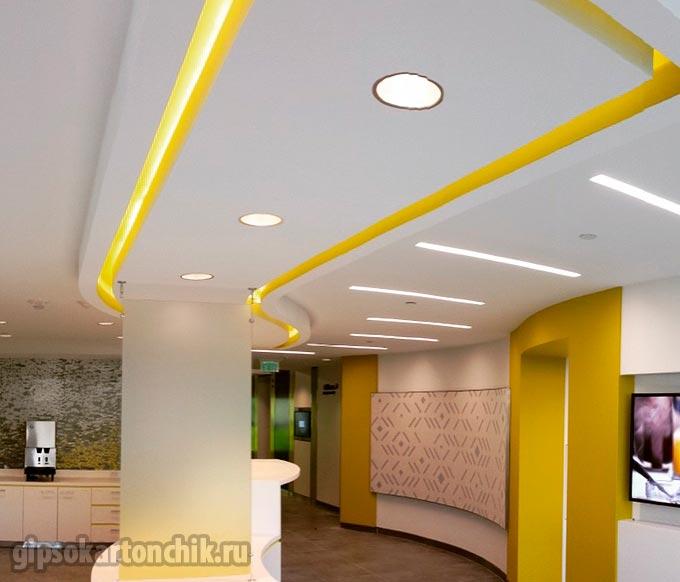 Потолки из гипсокартона для кухни (77 фото): подвесные фигурные гипсокартонные красивые потолки