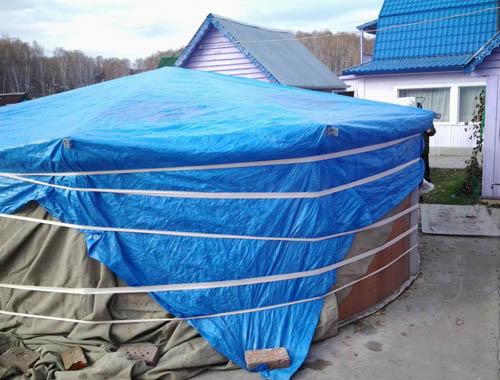 Монтаж надувного бассейна