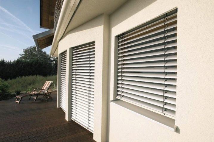 Наружные жалюзи (49 фото): защитные уличные жалюзи, металлические внешние модели на окна дома и на веранду, горизонтальные и вертикальные фасадные ставни