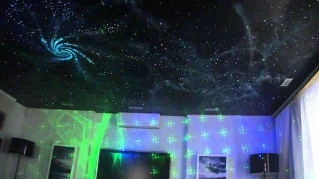 Натяжные потолки звездное небо: фото, цены и технологии.