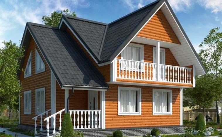 Проект дома 8х10 с отличной планировкой, план двухэтажного дома 10 на 10