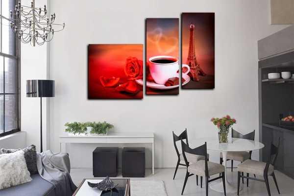 Как повесить картины на стену: правила и схемы
