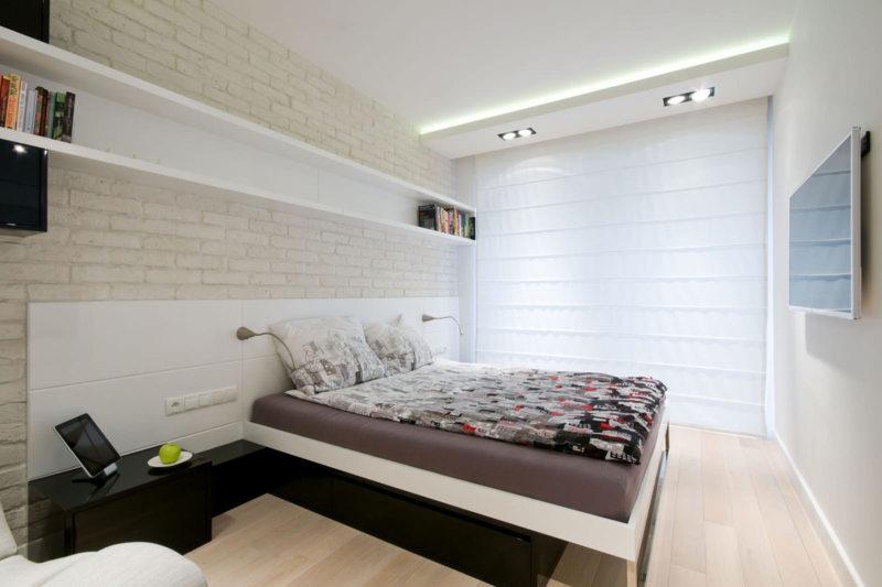 Обои для маленькой спальни: цвет, дизайн, комбинирование, идеи для низких потолков и узких комнат