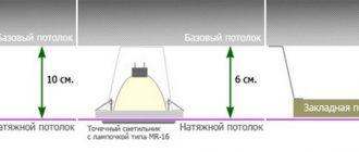 На сколько опускается натяжной потолок, как уменьшить его высоту