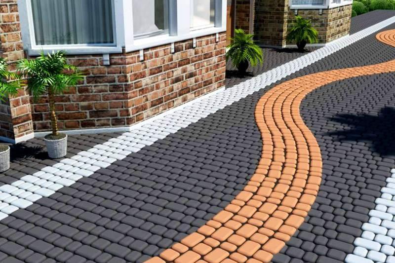 Укладка тротуарной плитки на бетонное основание — теория и практика